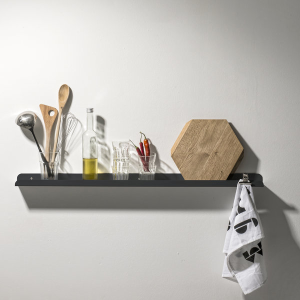 Wall shelf Solid 03 anthracite - Germany