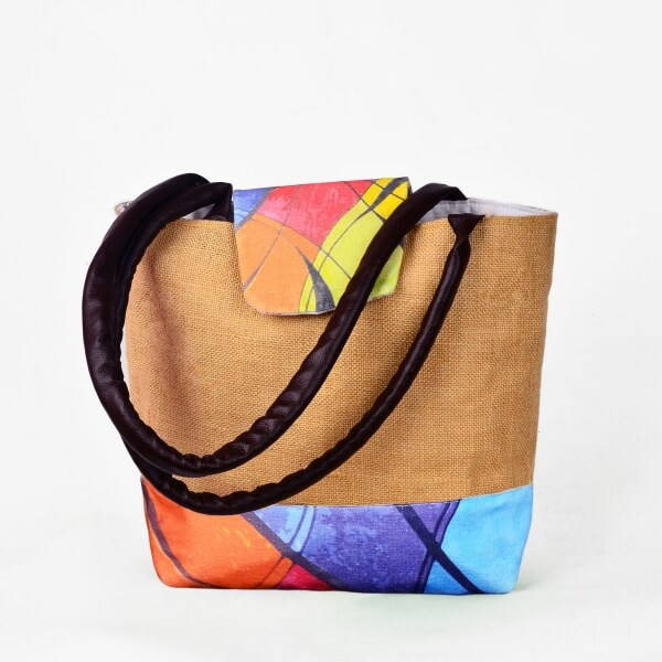Haastika Jute Canvas Ikat Sustainable Tote Bag - India