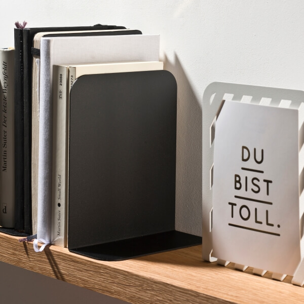 Bookend Solid 01 black - Germany