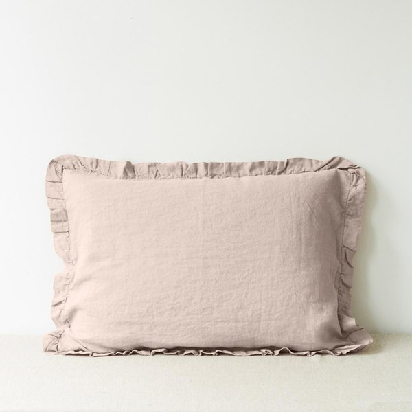 Portobello Frilled Washed Linen Pillow Case - Lithuania