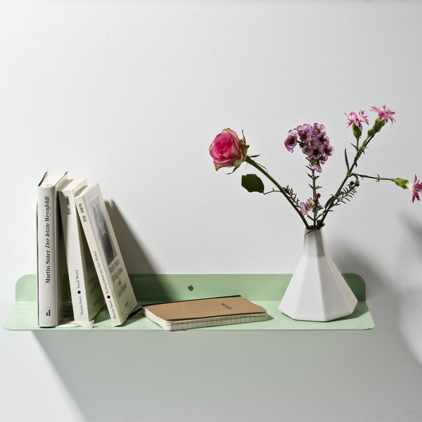 Wall shelf Solid 01 white green - Germany