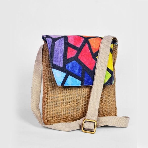 Haastika Jute & Canvas cross body sustainable bag - India