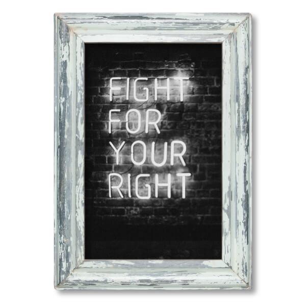25x38cm Distressed Wooden Picture Frame