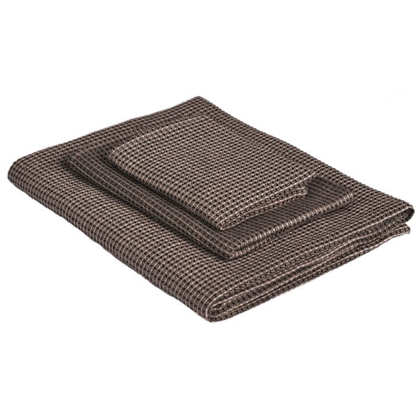 Linen guest towel LAUJA Wafflepique - Black/Nature - Lithuania