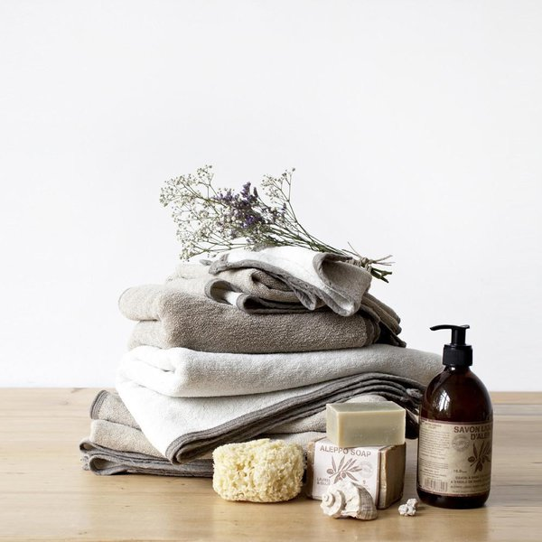Natural Washed Linen Terry Towel - Lithuania