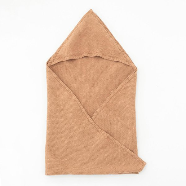 Cafe Creme Kids Washed Linen Hooded Towel - Lithuania